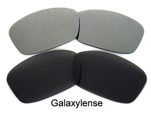 Galaxy-Replacement-Lenses-For-Oakley-Hijinx-Sunglasses-Black-amp-Ash-Gray-Polarized