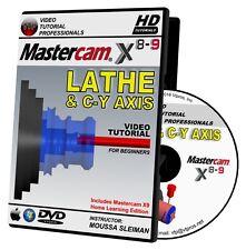 MASTERCAM X8-X9 LATHE & C-Y AXIS Video Tutorial Training Course in 720P HD