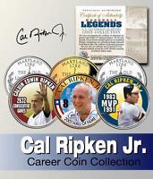 Cal Ripken Jr Hof '07 Maryland State Quarter 3-coin Set