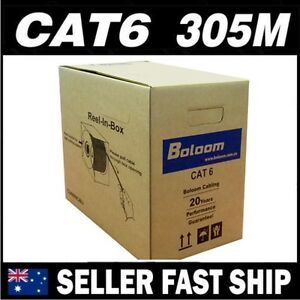 305m-AWG23-Cat6-Blue-Solid-Copper-Network-LAN-Patch-Cable-Home-TV-Box-PS4-Xbox