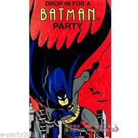 Batman The Animated Series Invitations (8) Vintage Birthday Party Supplies