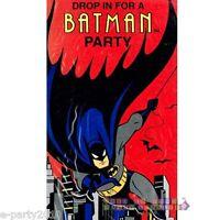 Batman The Animated Series Invitations (8) Vintage Birthday Party Supplies