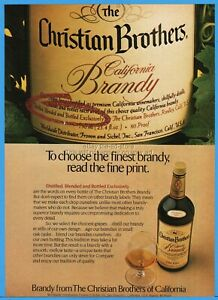 1980 Christian Brothers California Brandy Fromm & Sichel San Francisco CA ad