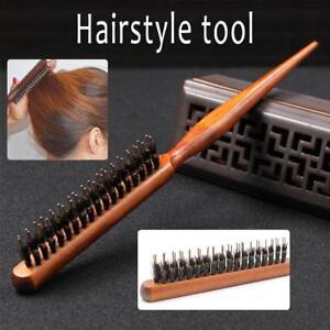 Details about UK Salon Wooden Comb Hair Teasing Brush Handle Back Comb  Natural Boar Bristle