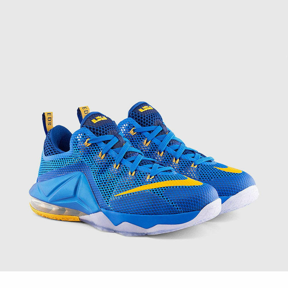 Nike Lebron James XII 12 Low Photo Blue University Gold Gym Blue 724557 484 8.5 The most popular shoes for men and women