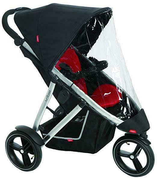 phil/&teds Stormy Weather Cover for Double Dot Stroller Clear