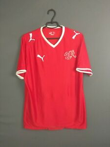 Switzerland Jersey 2008 2010 Home L Shirt Mens Football Soccer Trikot Puma ig93