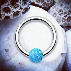Celesital-CBR-Blue-Opal-Setto-Cartilagine-Argento-Hoop-Piercing-Anello-Trago-Conchiglia