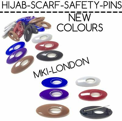ANTI NO SNAG HAIR SCARF HIJAB PIN SAFETY PINS TANGLE FREE BULB CLOTHES BROOCH 50