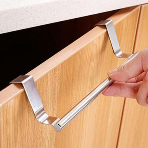 Over Door Towel Rail Hanger Kitchen Cabinet Cupboard Draw Hand Holder
