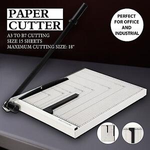 """18"""" Manual Paper Cutter Blade Metal Base Trimmer Scrap Booking A3-B7"""