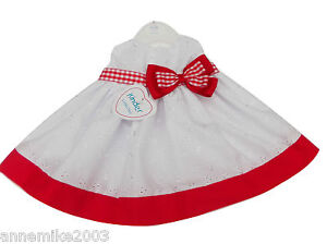 cb2aa9c23 BNWT baby girls red   white gingham bow kinder dress clothes Made in ...