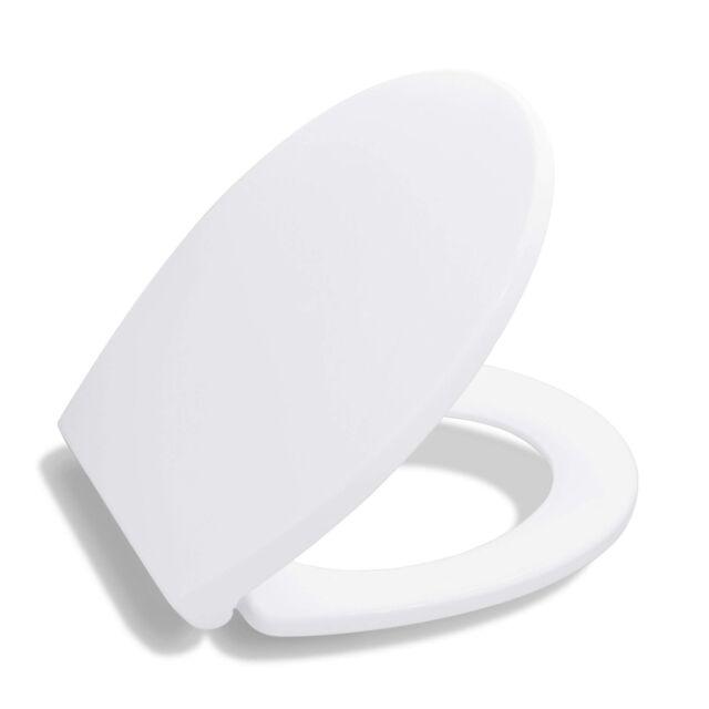 Brilliant Bath Royale Premium Round Toilet Seat With Cover White Soft Close Creativecarmelina Interior Chair Design Creativecarmelinacom