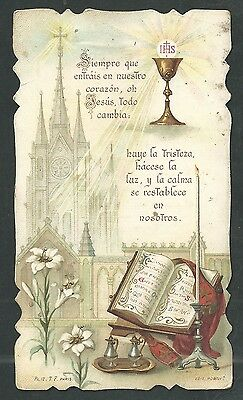 Activo Estampa Antigua Andachtsbild Santino Holy Card Santini DesempeñO Confiable