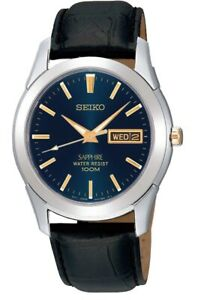 Seiko Gents Sapphire Day Date Leather Strap Watch   SGGA61P1 OS SQNP