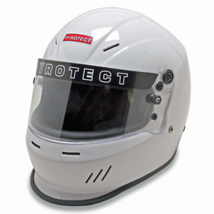 RaceQuip 253116 OF15 Open Face Helmet Snell SA-2015 Rated; Gloss White X-Large