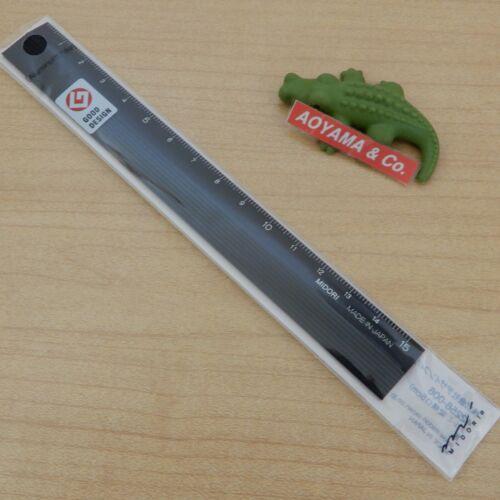 Black DewsignPhil Japan MIDORI 42256006 15cm Aluminium Ruler
