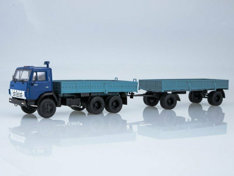 Scale model truck 1 43 KAMAZ 5320 with trailer GKB-8350 1976