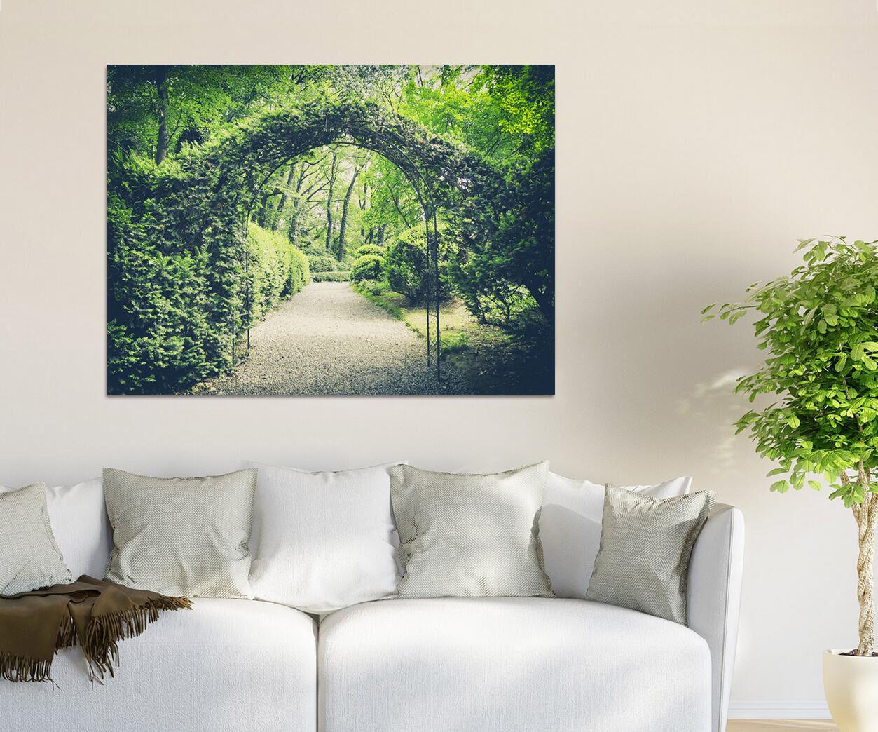 3D Üppige grüne Pflanzen Wege Fototapeten Wandbild BildTapete Familie AJSTORE DE
