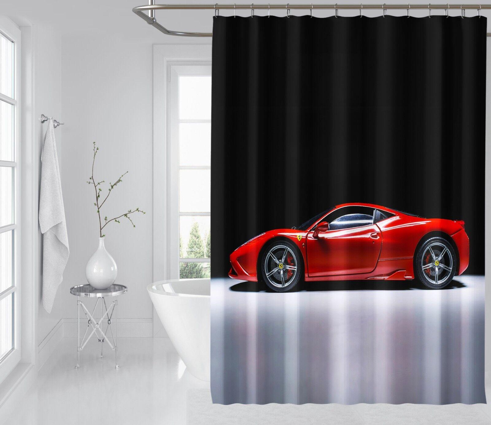 3D rot Car 654 Shower Curtain Waterproof Fiber Fiber Fiber Bathroom Home Windows Toilet e75c26