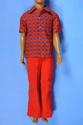 Vintage Barbie 1196 Talking Busy Ken Doll Original Outfit Red Pants Shirt EXCLNT