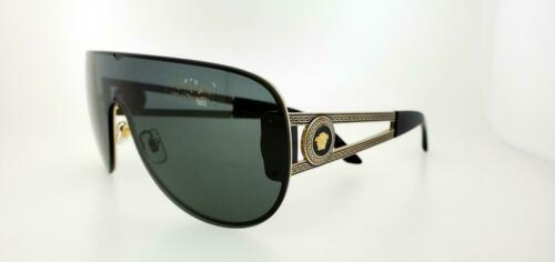 VERSACE 2166 125287 41MM PALE GOLD FRAMES WITH GREY LENSES SUNGLASSES