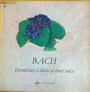 RARE-CLASSIC-LP-CICCOLINI-BACH-INVENTIONS-A-2-ET-3-VOIX-OG-FR-COLUMBIA-SAXF-978