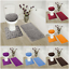 thumbnail 1 - ROCK-DESIGN-3PC-BATHROOM-SET-SOFT-COMFORT-MEMORY-FOAM-BATH-RUGS-SOLID-COLOR