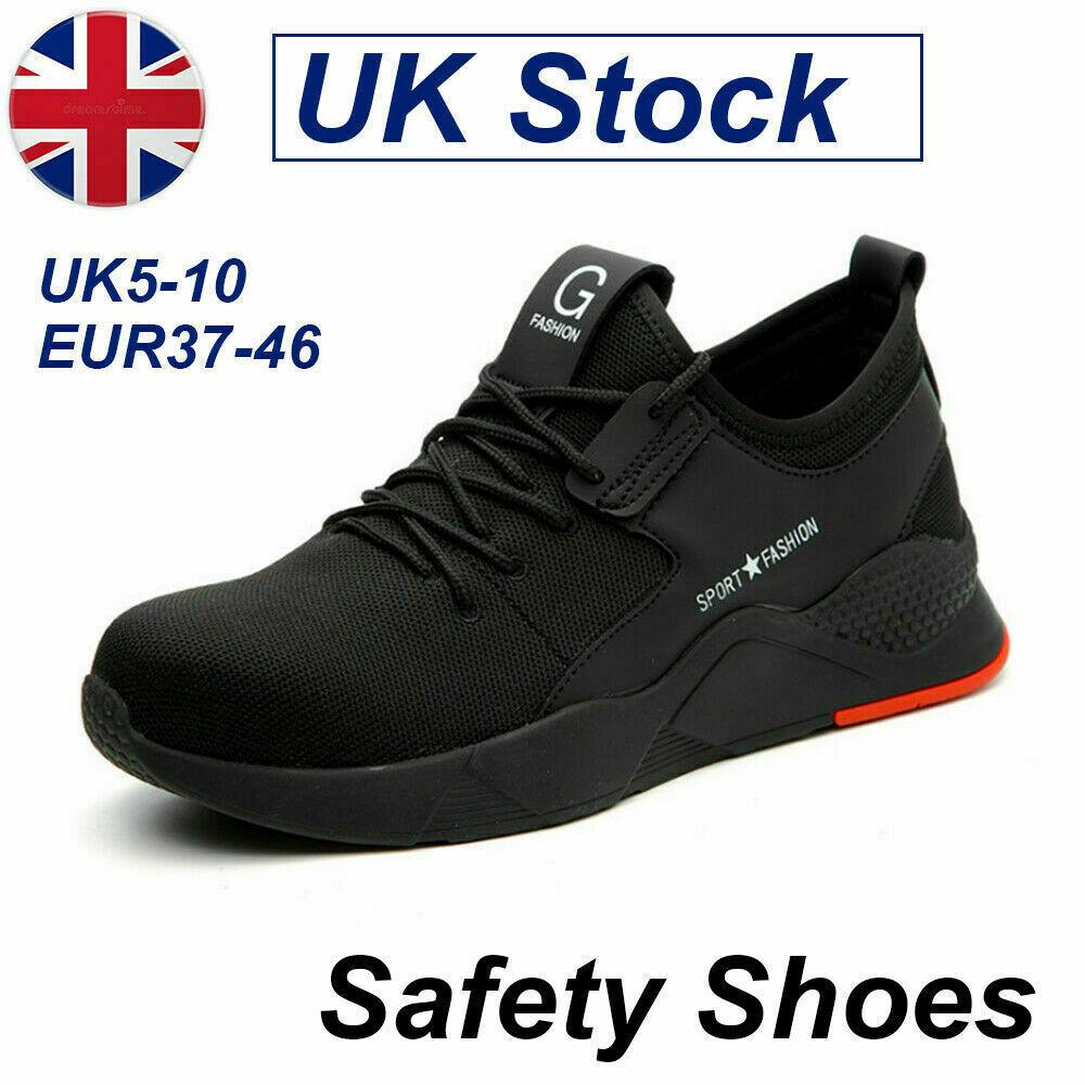 Men/Women Safety Shoes Trainers Steel Toe Cap Work Boots Sport Hiking Sneaker YN