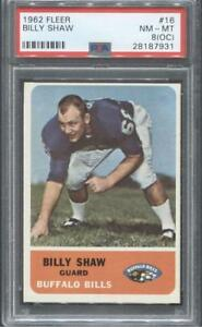 1962-Fleer-Football-16-Billy-Shaw-RC-Bills-PSA-8-OC-Flat-Rate-Ship