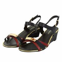 Womens Low Wedge Heel Open Toe Summer Ankle Strap Holiday Sandals UK 3-8