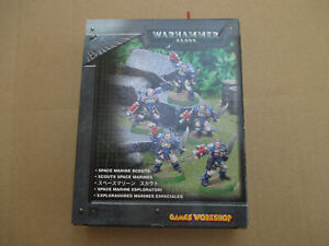 D11C29 SCOUT SPACE MARINE WARHAMMER 40000 W40K (2002) NIB OPENED