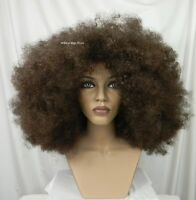 Huge Unisex Super Cool Afro Wig .. Chestnut Brown And Free Afro Pick