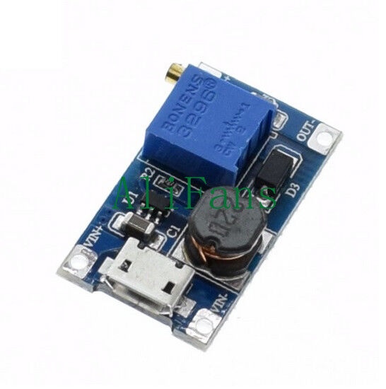 5PCS 2A Booster Board DC-DC Step-Up Module 2/24V to 5/9/12/28V Replace XL6009