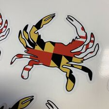 """Japanese Crab Car Racing Reflective Light Sticker Decal 2.5x2.5/"""" Red"""