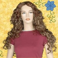 Long Curly Light Copper Red With Auburn And Blonde Highlights Jdsw70