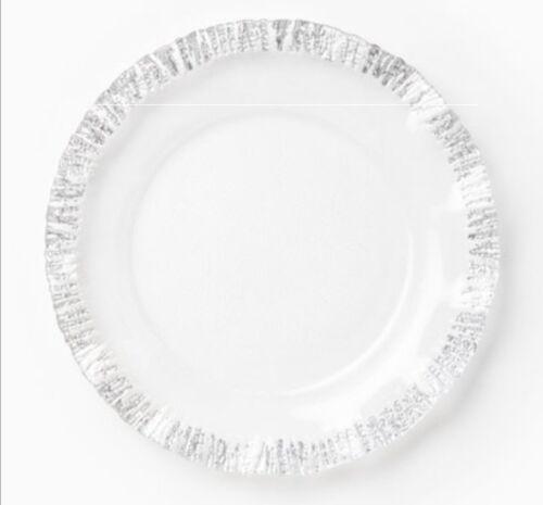 Vietri Rufolo Glass Platinum Service Plate/charger - Set of 4 NIB!
