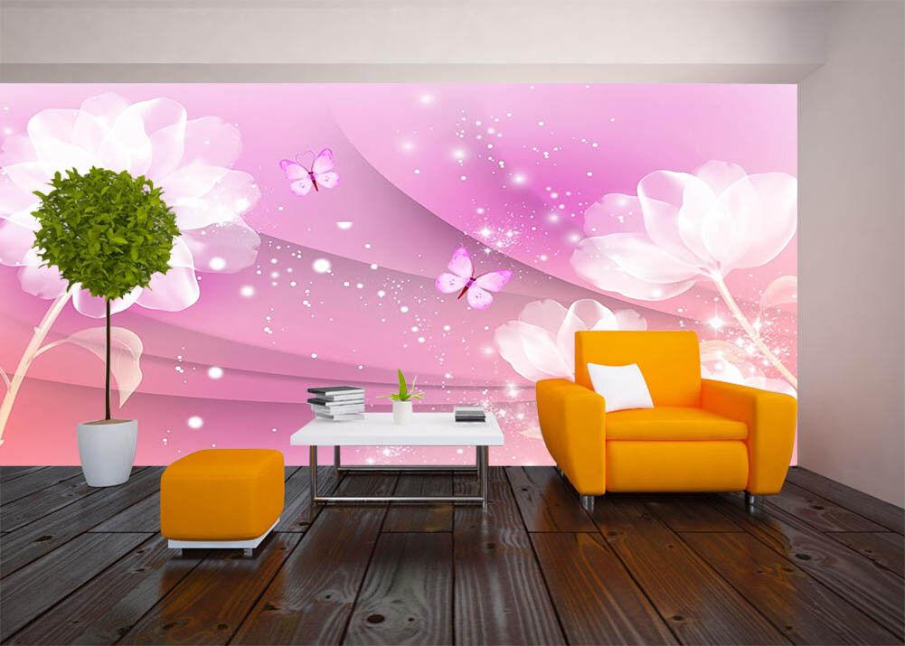 Pink Fantasy Scenes 3D Full Wall Mural Photo Wallpaper Printing Home Kids Decor