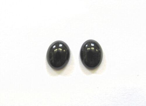 1 Paar Onyx Pair Onyx Cabochon 10 x 8  mm Nr U1775