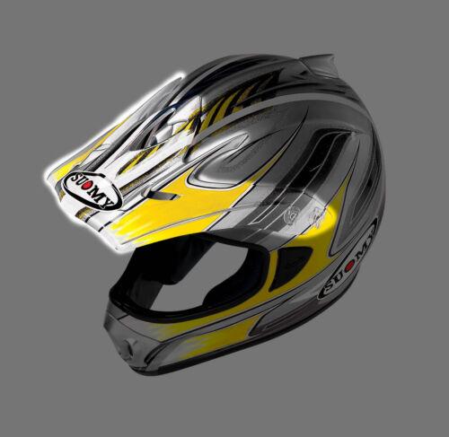 Yellow multi Suomy Spectre helmet visor