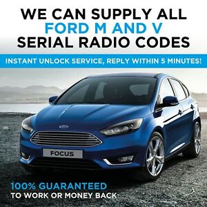 instant ford m v serial radio code unlock focus. Black Bedroom Furniture Sets. Home Design Ideas