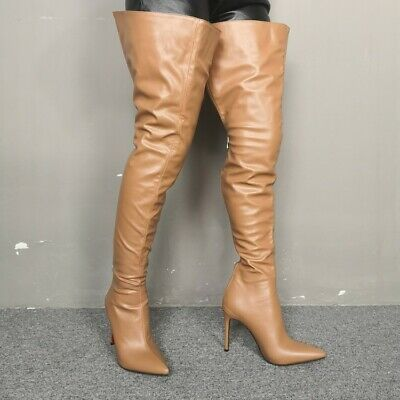 women over knee thigh high boots pointed toe high heel