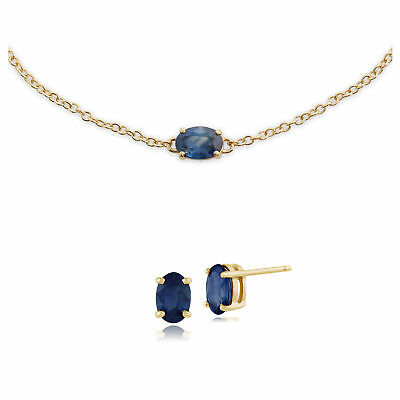 Fine Jewelry Sets Sensible Gemondo Kanchanaburi Sapphire Oval Stud Earring & 19cm Bracelet Set To Win A High Admiration And Is Widely Trusted At Home And Abroad.