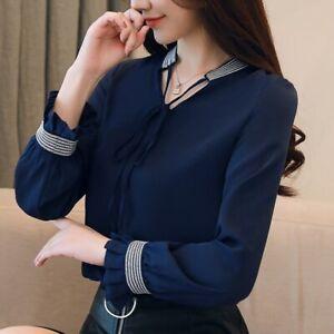 Blusas-y-camisas-de-moda-manga-larga-para-Mujer-Elegante-Camisa-Blusa-Ropa-Prendas-para-el-torso