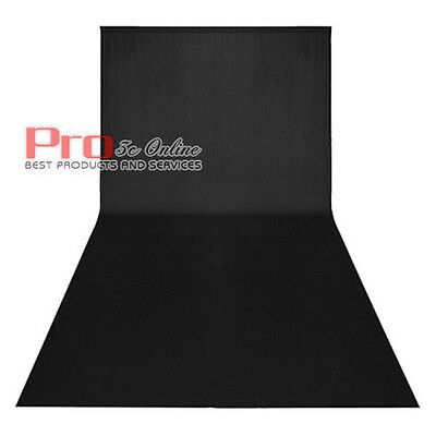 New 3x6M Black Photography Photo Cotton Backdrop Background for Studio Lighting