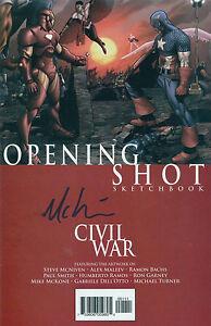 MIKE-MCKONE-signed-autographed-Civil-War-Opening-Shot-Sketchbook-2006