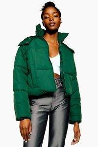 Uk 10 Jacket Hooded Bnwt Topshop Forest Puffer FWZwq