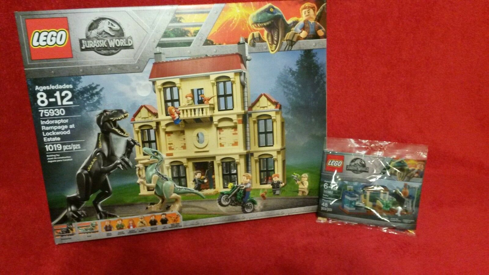 LEGO 75930 Indoraptor Rampage NIB & LEGO 30382 Baby Velociraptor Playpen Polybag