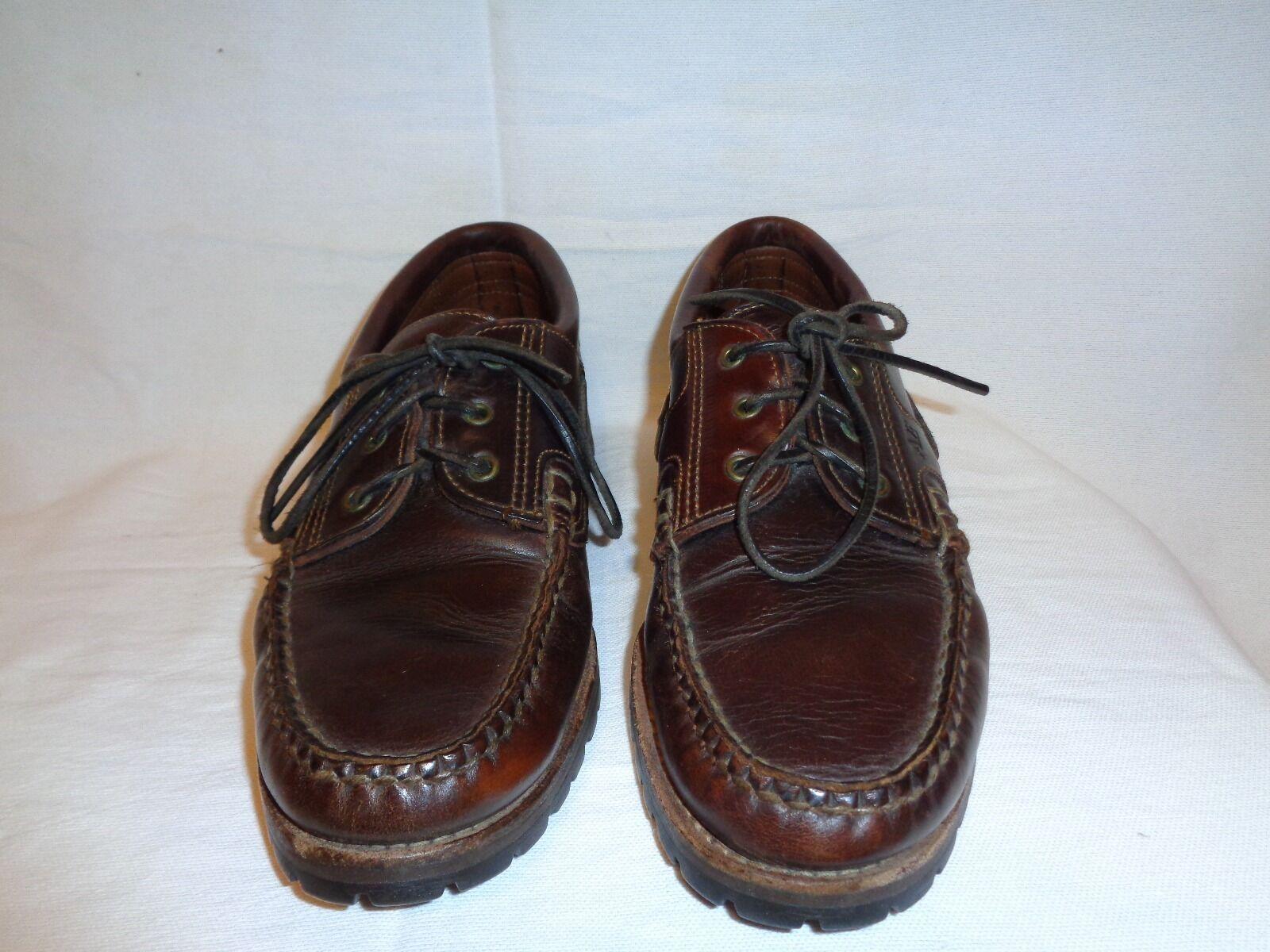 Allen Edmonds Sherwood Brown leather Lace Up shoes Men's Size 9 1 2 B