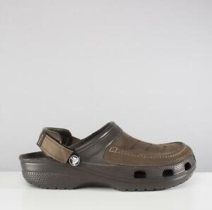 57ae75e274809 Crocs YUKON VISTA 205177 Mens Leather Summer Wide Fit Clogs Espresso ...